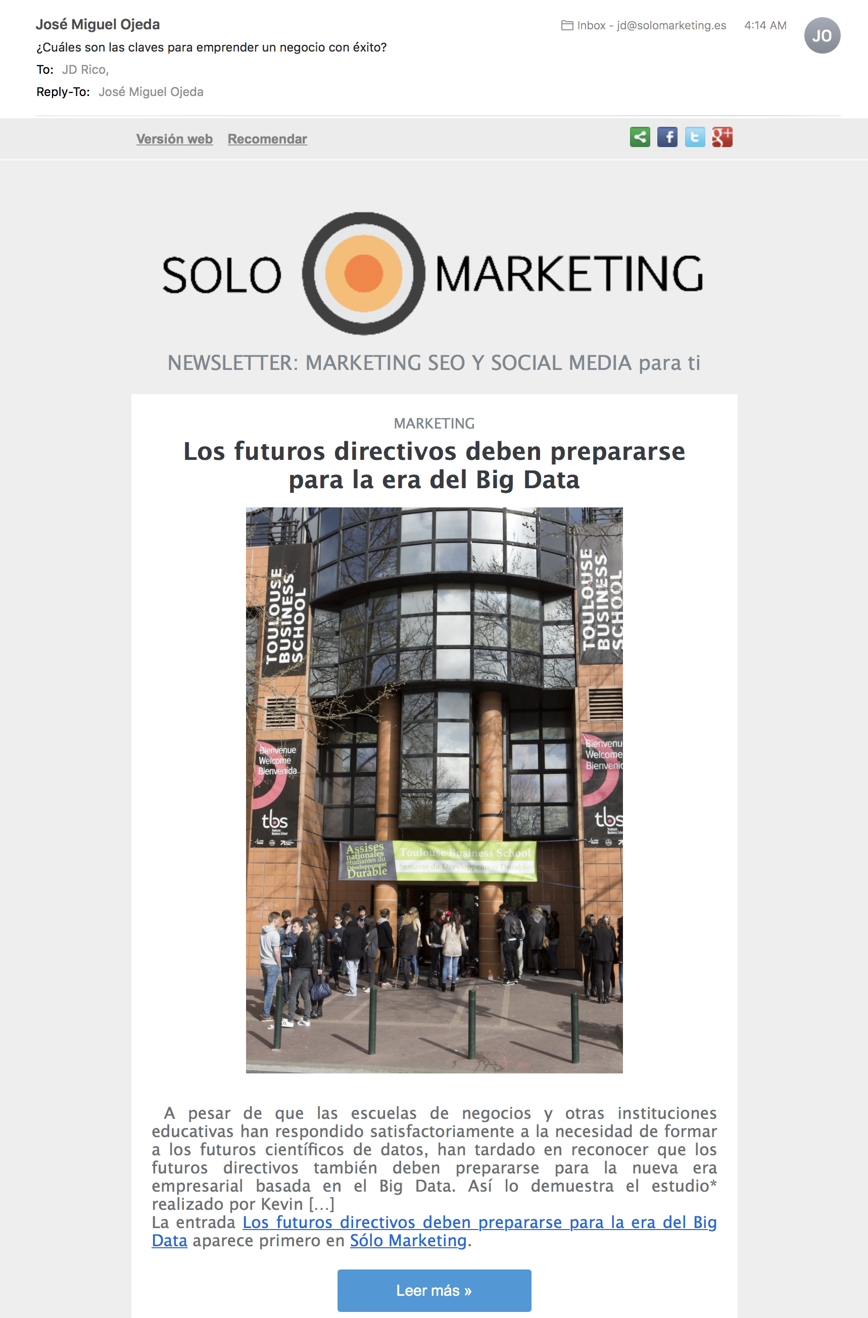 Newsletter SoloMarketing