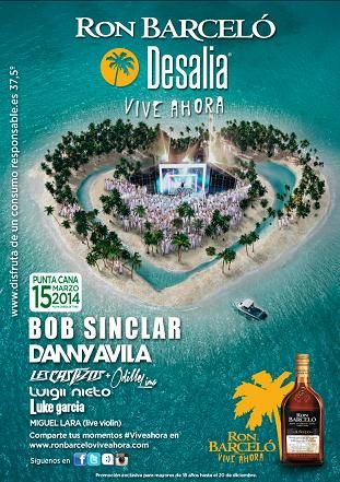 Cartel Ron Barcelo Desalia 2014