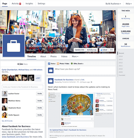 facebook pages